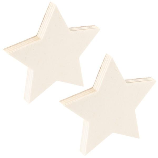 Sterne, Holz, 14cm x 14,5cm x 1,5cm, zum Aufstellen, 2 Stück