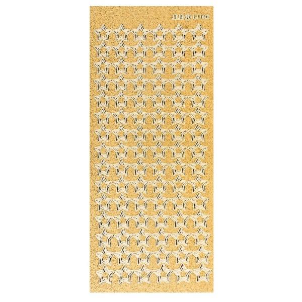 Microglitter-Sticker, Sterne 1, gold