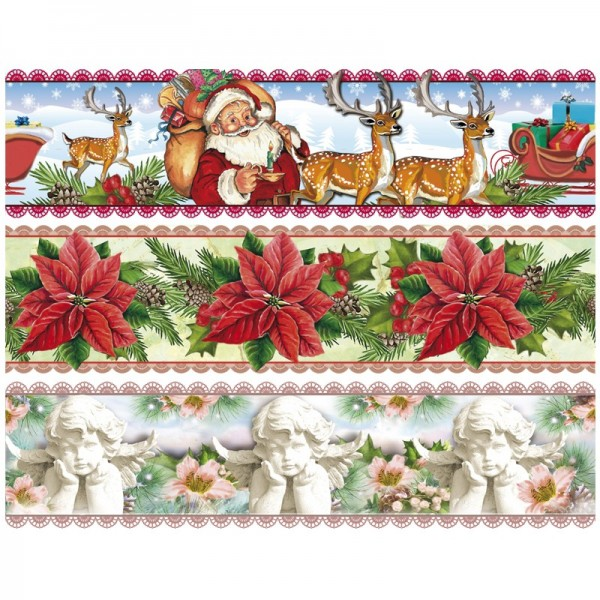 """Zauberfolien """"Weihnachtszeit"""", Schrumpffolien für Ø6cm, 5 cm hoch, 6 Stück"""