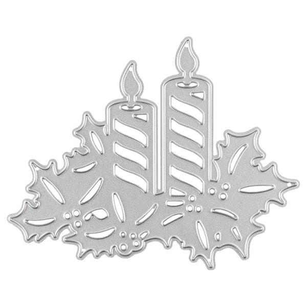 Stanzschablone, Kerzengesteck, 8cm x 10cm, passend für gängige Stanzmaschinen