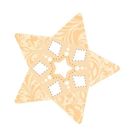 Stern-Stanzformen für 3-D Leuchtstern, 12 Stück, Design 2