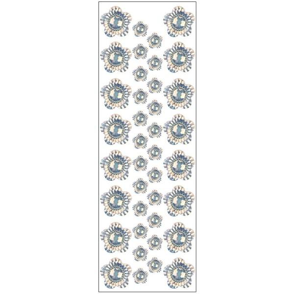 Kristallkunst, Blüte 2, 10cm x 30cm, selbstklebend, klar irisierend