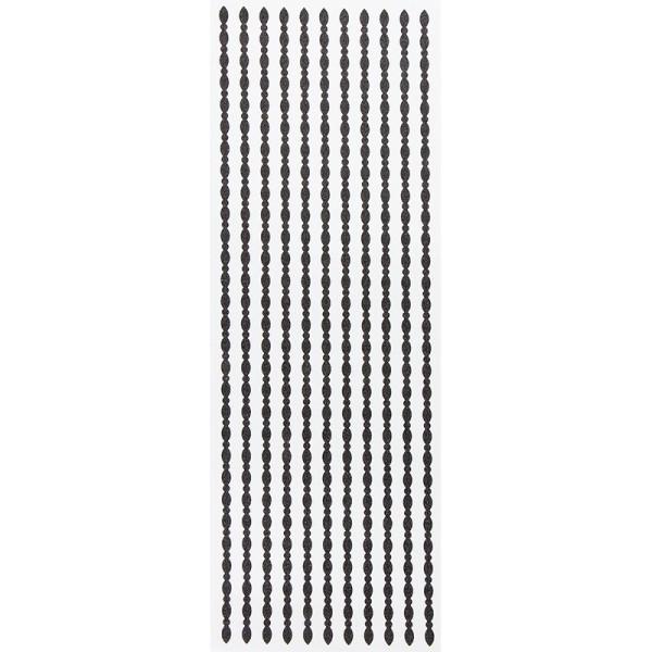 "Glitzer-Bordüren ""Ramona"", selbstklebend, 10cm x 30cm, schwarz"