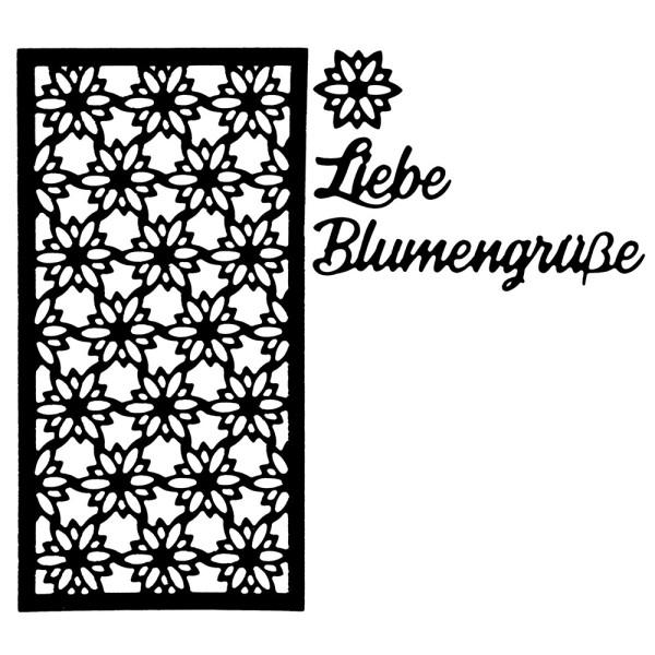 Stanzschablonen, Liebe Blumengrüße, 4 Stück