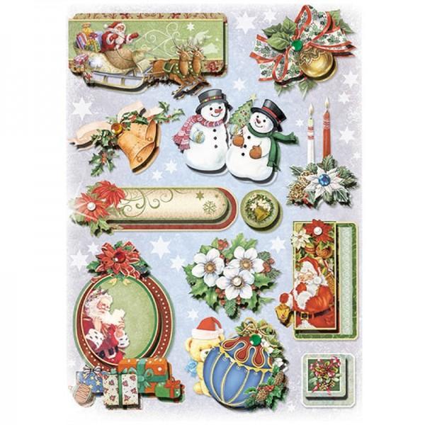 3-D Stickerbogen, Weihnachten 2, 19 x 26 cm