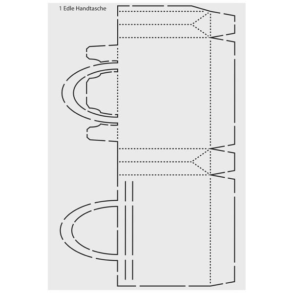 """Design-Schablone """"Edle Handtasche"""", DIN A3"""