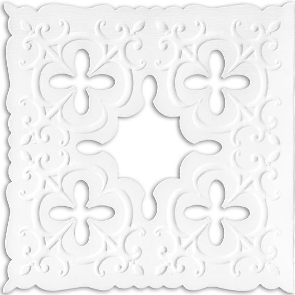 Ornamentik-Grußkarten, 14x14cm, 10 Stück, Design 2