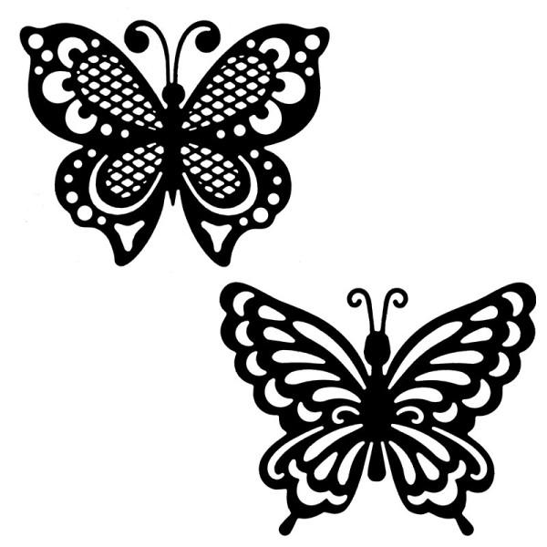Stanzschablonen, Schmetterlinge, 7,1cm bis 9,1cm, 2 Stück