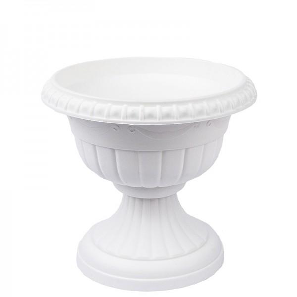 """Blumenspindel """"Roma"""", Ø15cm, 14cm hoch, Kunststoff, weiß"""