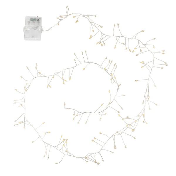LED-Bündel-Drahtlichterkette, 150 LED-Lämpchen in Warmweiß, inkl. Timer