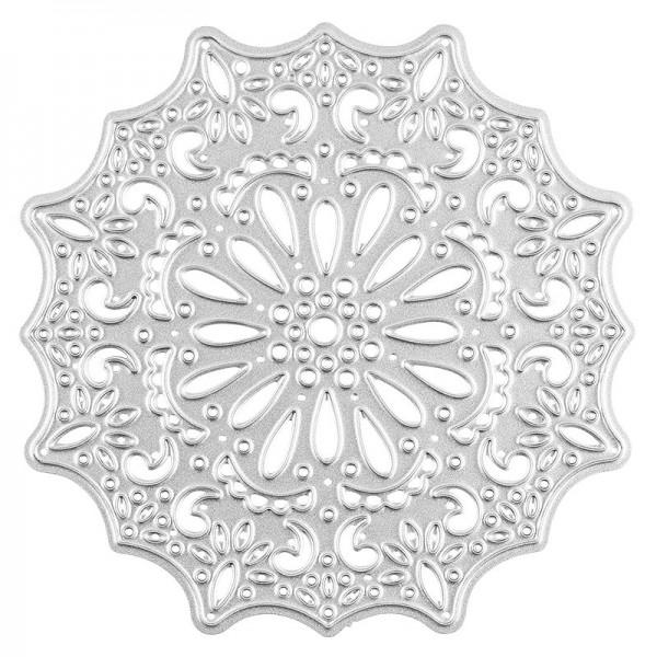 Stanzschablone, Ornament 1, Ø 7,6cm , passend für gängige Stanzmaschinen