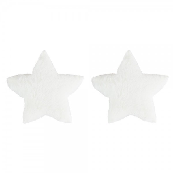 Fell-Sterne, Ø 11cm, weiß, 2 Stück