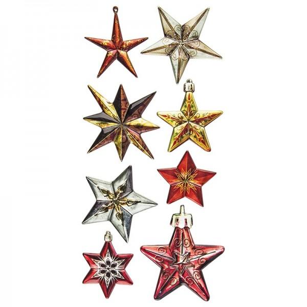 Relief-Sticker Weihnachten, Sterne 1, 17,5cm x 9cm