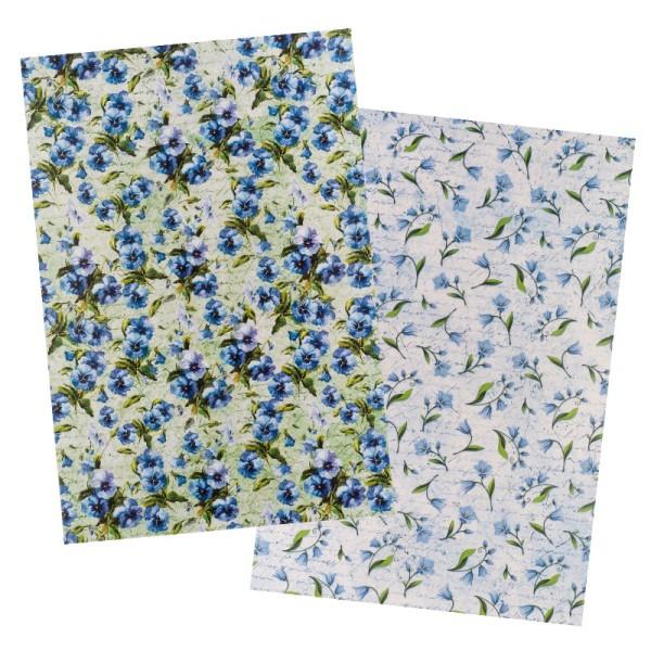Reispapiere, Blüten 24, DIN A4, 30g/m², 2 verschiedene Designs