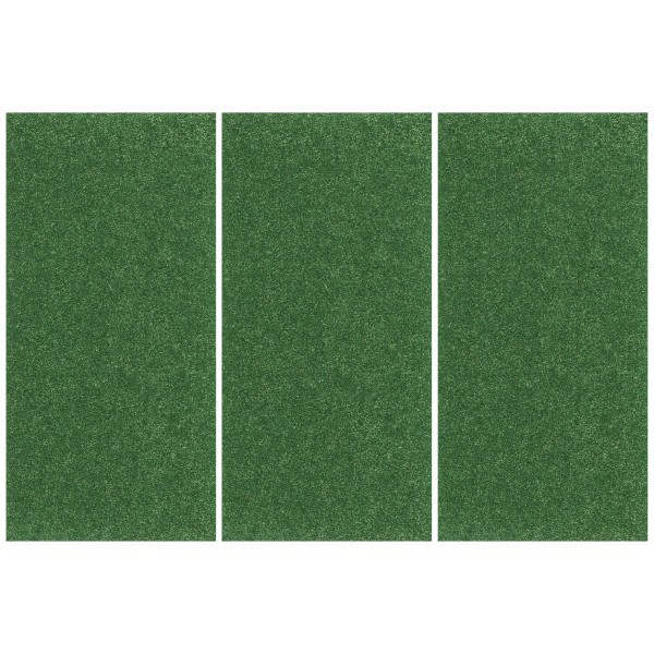 Glitter-Bügelfolie, 25 x 12,5 cm, 3er Set, grün