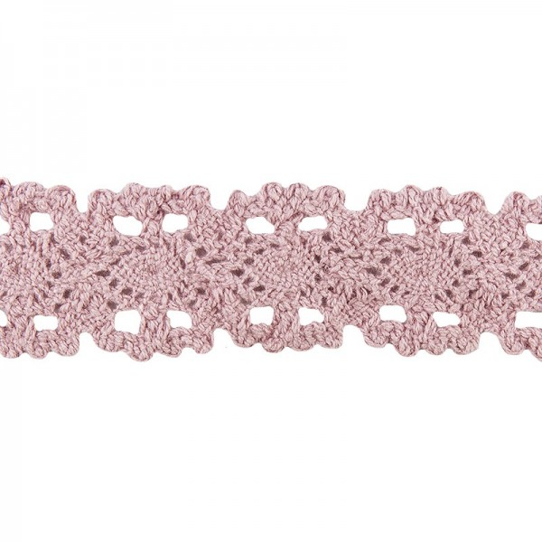 Häkelspitze Design 10, 3,2cm breit, 2m lang, altrosa