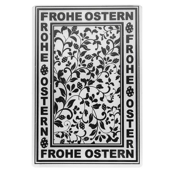 Prägeschablone, Frohe Ostern 1, 14,5cm x 9,5cm, passend für gängige Präge- & Stanzmaschinen