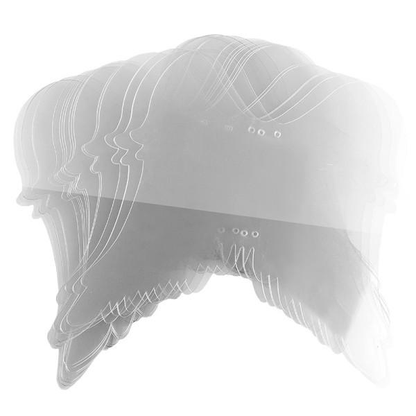 Windradfolien-Scheiben, Flügel, 20cm x 22,4cm, transparent, 500µ, 20 Stück