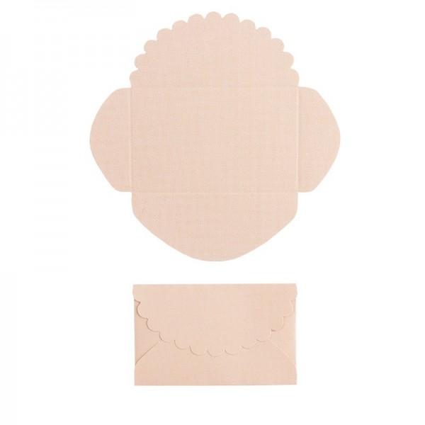 Mini-Umschläge, 4,2 x 6,6 cm, 100 Stück, lachs