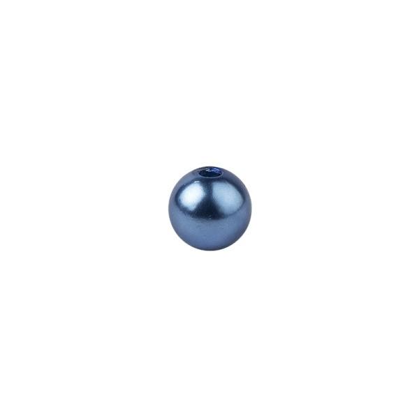 Perlen, Perlmutt, Ø 6mm, blau, 150 Stück