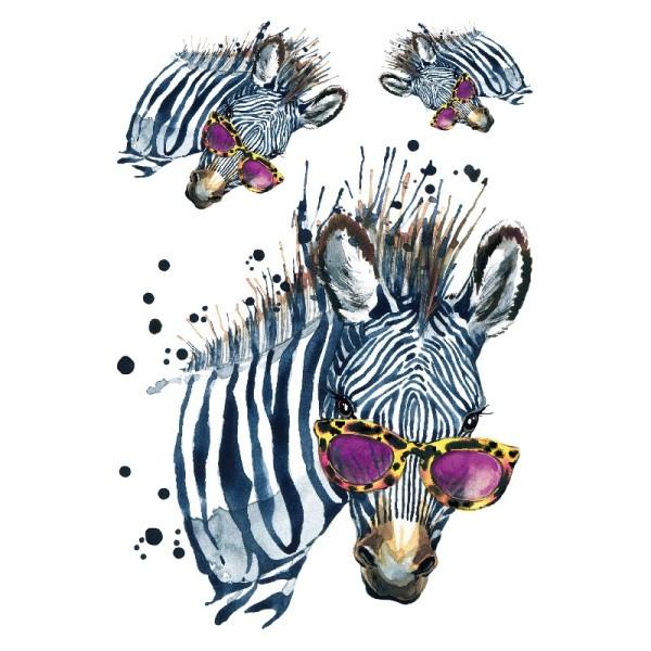 Color Bügeltransfers, DIN A4, Fashion Zebra