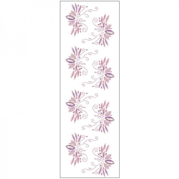 Kristallkunst, Lotus-Ornament, 10cm x 30cm, selbstklebend, rosa irisierend