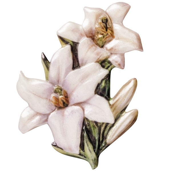 "Wachsornament ""Blüten de luxe"" 4, farbig, geprägt, 6-7cm"