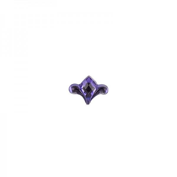 Ornament-Glitzersteine, 50 Stück, Design 8, lila