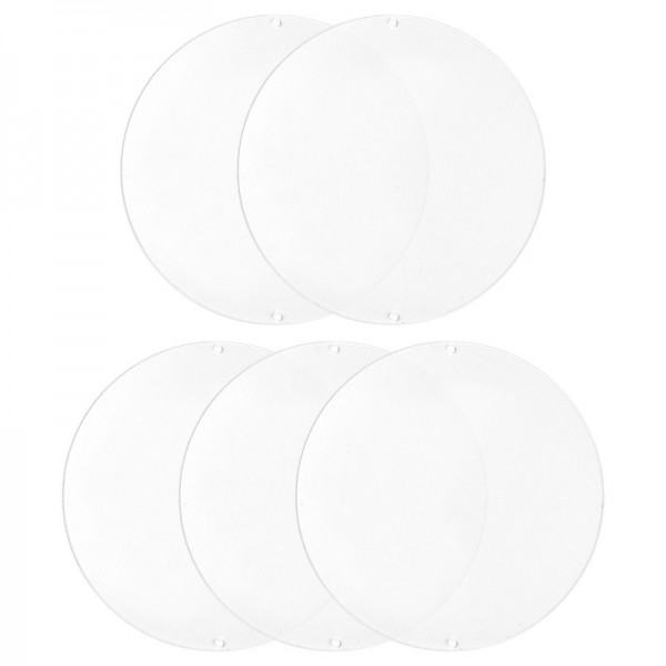 Acryl-Scheiben mit 2 Löchern, Kreis, Ø 16cm, Stärke: 2mm, 5 Stück