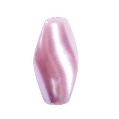 Perlmutt-Perlen, gedreht, 18mm, rosé, 20 Stück