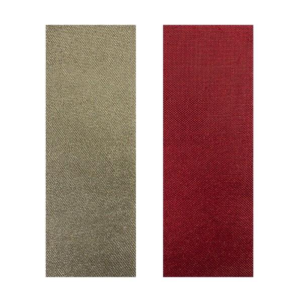 "Stoffe Royal ""Eleganz"", selbstklebend, 10 x 29 cm, 2 Stück, gold & rot"