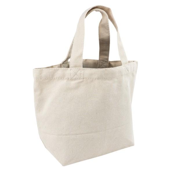 Textil-Tasche, 30cm x 20,5cm x 11cm, mit kurzen Tragehenkeln, natur
