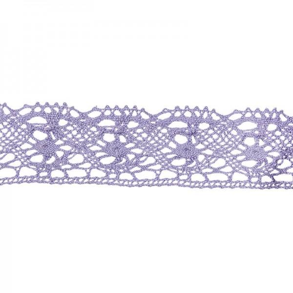 Häkelspitze Design 4, 2,8cm breit, 2m lang, flieder