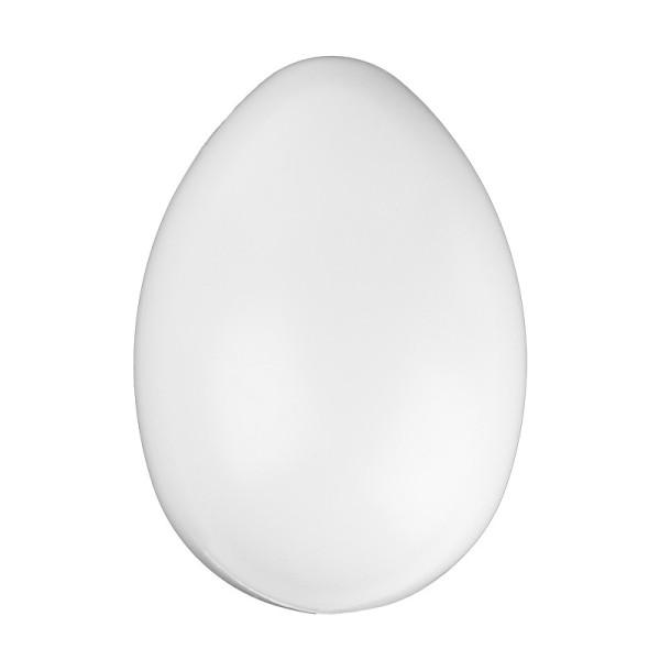Kunststoff-Eier mit Loch, 14 cm hoch, Ø 9,5 cm, weiß, 4 Stück
