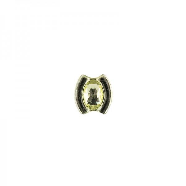 Ornament-Glitzersteine, 50 Stück, Design 10, lindgrün