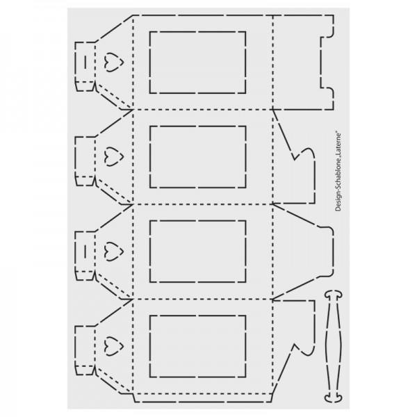 Design-Schablone, Laterne, DIN A3