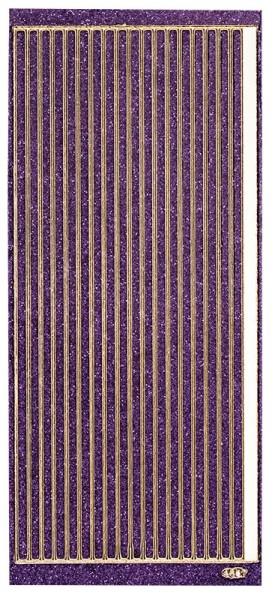 Microglitter-Sticker, Linien, 5mm, violett