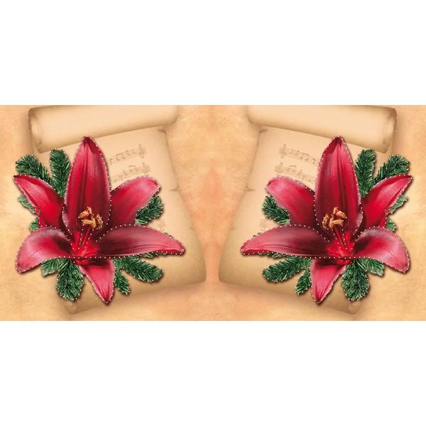 Prickel-Karte, Weihnachts-Lilie, 16 x 16 cm