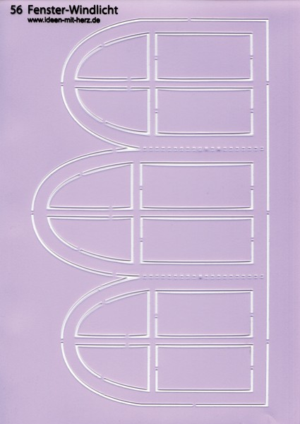 """Design-Schablone Nr. 56 """"Fenster-Windlicht"""", DIN A4"""