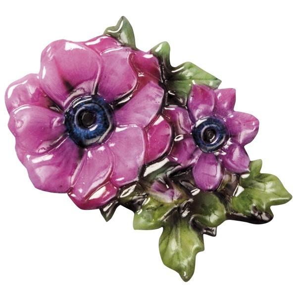 Wachsornament Blütenpracht 6, farbig, geprägt, 8cm