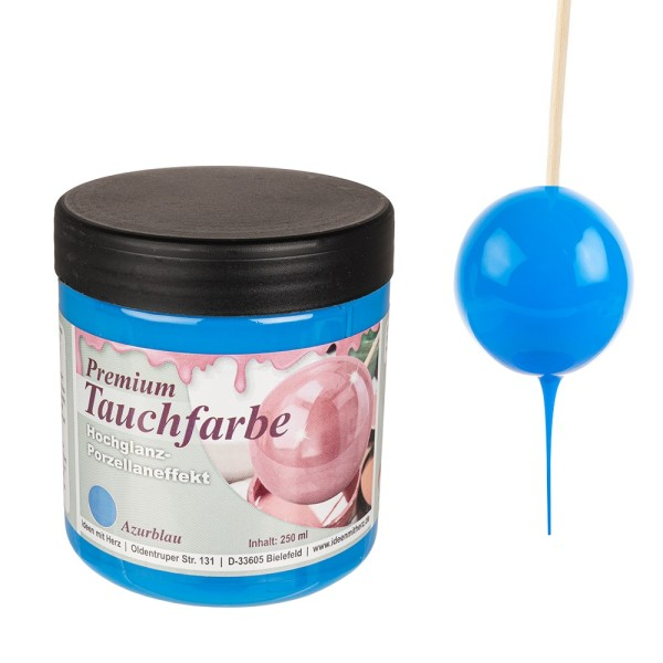 Premium-Tauchfarbe, Azurblau, 250ml