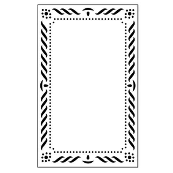 Präge-/Prickelschablone, 14,5 x 9 cm, Design 8