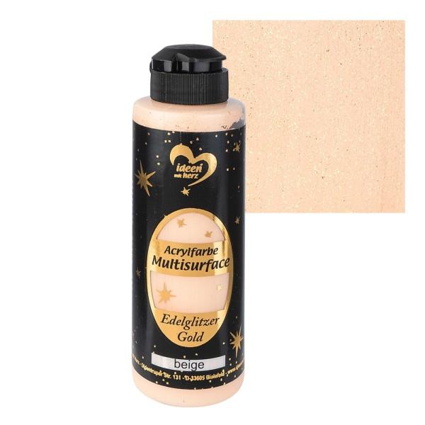 "Acrylfarbe ""Multisurface"", Edelglitzer Gold, beige, 180ml"