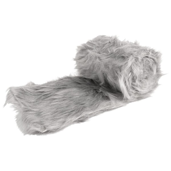 Kunstfell-Band, 12cm breit, 2m lang, hellgrau
