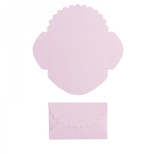 Mini-Umschläge, 4,2 x 6,6 cm, 100 Stück, rosé