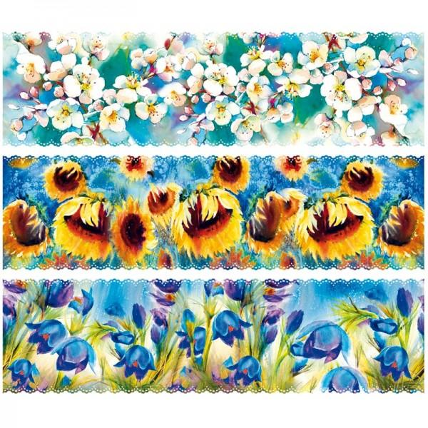 """Zauberfolien """"Blumengemälde"""", Schrumpffolien für Ø7cm, 6,5cm hoch, 6 Stück"""