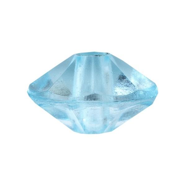 Facetten-Perlen, transparent, Ø6mm, aquamarin, 100 Stück