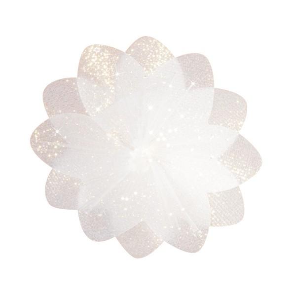Lichteffekt-Blume, Diamant-Effekt, Ø6cm, transparent, 10er Set