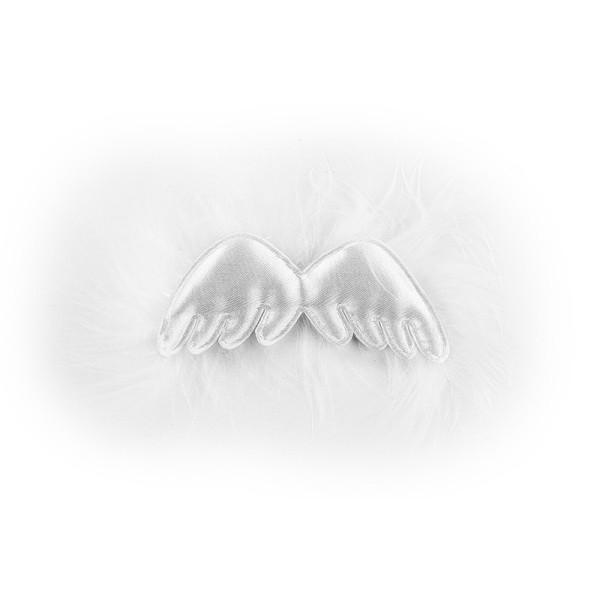 Deko-Flügel, 3cm x 8 cm, weiß, 3 Stück