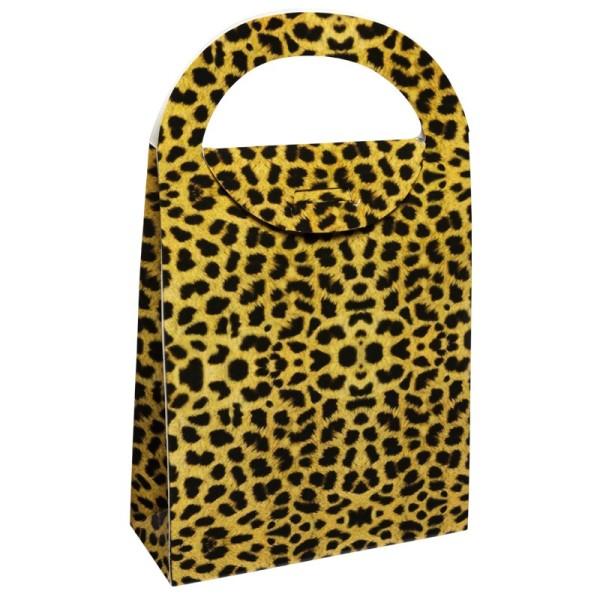 Geschenktasche Leopard, 4,5 x 11,5 x 20 cm